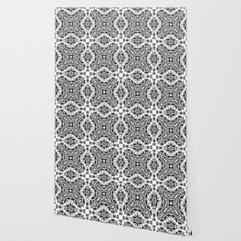 black and white Damascus ornament 2 Wallpaper