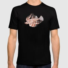 Fish Manchu MEDIUM Black Mens Fitted Tee