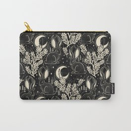 Jackalope - black and cream  Carry-All Pouch
