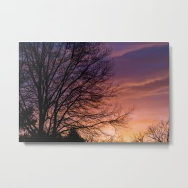 Sunsets and Silhouettes #1 Metal Print