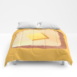 Toast with Butter polygon art Comforters