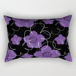 Purple Blooms Rectangular Pillow