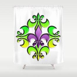 Five Nola Flowers Shower Curtain