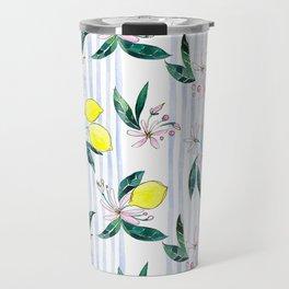 Lemon Leaves Travel Mug