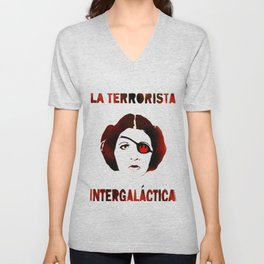 La Terrorista Intergalactica by MrMAHAFFEY Unisex V-Neck