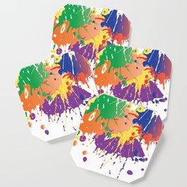 Colourful Paint splash Coaster