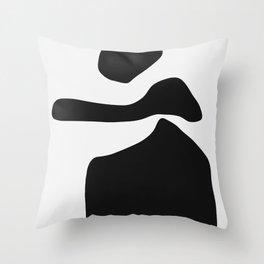 Posing Lady Throw Pillow