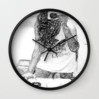 mirror Wall Clocks featuring Mirror by Skye Rao