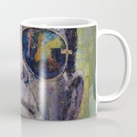 frankenstein Mugs featuring Frankenstein by Michael Creese