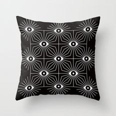 ELECTRIC EYES Throw Pillow