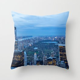 New York City and Central Park Throw Pillow