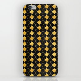 Black and golden scales pattern iPhone Skin