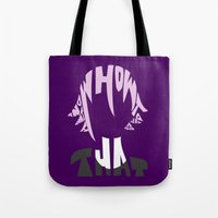 soul eater Tote Bags featuring crona soul eater  by Rebecca McGoran