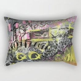 Peeking Through the Wall Rectangular Pillow