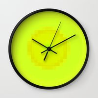 lime Wall Clocks featuring Lime by Thomas Rolfe