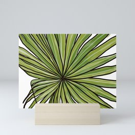 Digital Water Color Palm Frond Design Mini Art Print