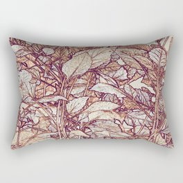 abstract camouflage leaves Rectangular Pillow