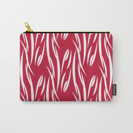 White pattern on red background. Carry-All Pouch