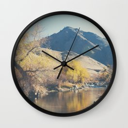 down by the river ... Wall Clock