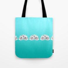blue lotus Tote Bag