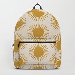 Golden Sun Pattern Backpack