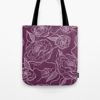 floral pattern Tote Bags featuring Floral Pattern by Vickn