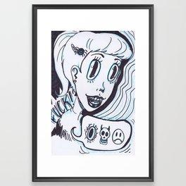 devil dame Framed Art Print