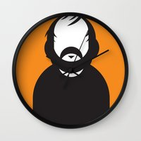 stanley kubrick Wall Clocks featuring Stanley by Ale Giorgini