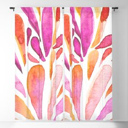 Watercolor artistic drops - pink and orange Blackout Curtain