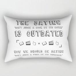 Judge a Book Rectangular Pillow