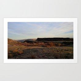 (#13) Dry Desert Rock Art Print