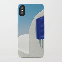 Santorini Blue & White Window iPhone Case