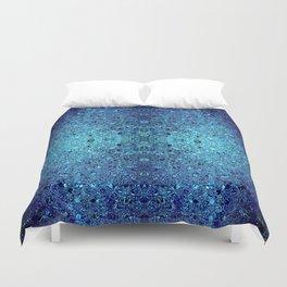 Deep blue glass mosaic Duvet Cover