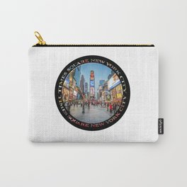 Times Square Sparkle (badge on black) Carry-All Pouch