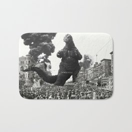 New Orleans Godzilla Attack 1908 Bath Mat