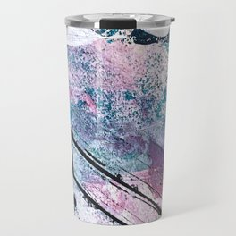 Breathe [5]: colorful abstract in black, blue, purple, gold and white Travel Mug
