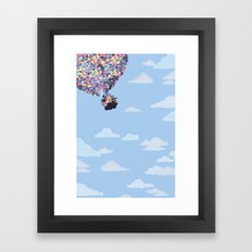 disney pixar up.. balloons and sky with house Framed Art Print