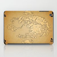 airbender iPad Cases featuring Avatar Last Airbender Map by KewlZidane