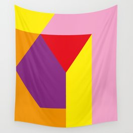 Geometrical, random, colorful, triangles, diagonal, etcetera.... No ideas for a title right now... s Wall Tapestry