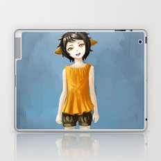 Girl in shorts Laptop & iPad Skin