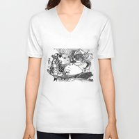 circus V-neck T-shirts featuring Circus by Ivanka Costru