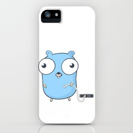 Golang - gopher wizard iPhone Case