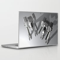 robots Laptop & iPad Skins featuring Robots by Carlo Toffolo