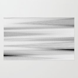 Black and White Stripes Abstract Rug