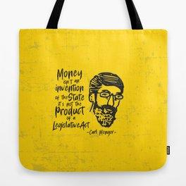 Carl Menger Illustration Tote Bag