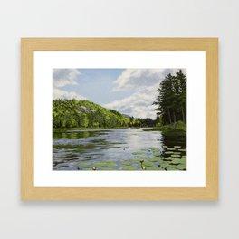 Secret Adirondack Pond Framed Art Print