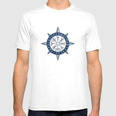 Vegvisir Viking Compass Mens Fitted Tee MEDIUM White