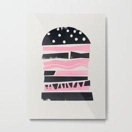 Big Burger Yum Metal Print
