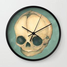 Foetus Skull Wall Clock