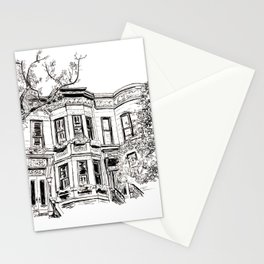 Park Slope Brownstone Drawing Stationery Cards